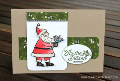 Stampin Up Santa's Gifts 2015 Christmas Card by Claire Daly SU Demo Australia