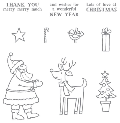 Stampin Up Santa's Gifts stamp set. Claire Daly Stampin Up Demonstrator Australia 2015