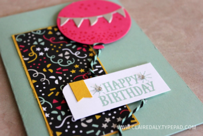 Stampin Up On Stage / Occasions Catalogue 2016 sneak peeks. It's My Party suite. Claire Day Australia.