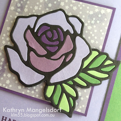 Rose Wonder / Rose Garden stamp set and thinlets by Stampin Up. Card by Kathryn Manglesdorf Art With Heart Stampin Up Team Australia.
