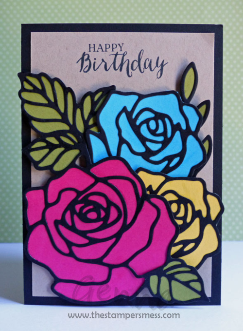 Rose Wonder / Rose Garden stamp set and thinlets by Stampin Up. Card by Genna Gifford  Art With Heart Stampin Up Team Australia.