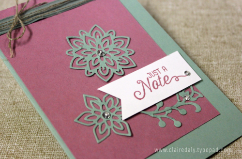 Stampin Up Flourish Thinllits & Flourishing Phrases Stamp Set card by Claire Daly SU Demo Melbourne Australia