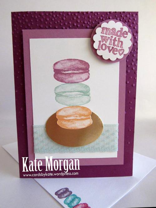 Macaron card by Kate Morgan SU Demo Melbourne Australia