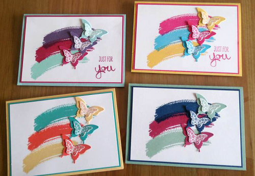 Stampin Up Papillion Potpouri cards by Caroline Nicholls Stampin Up Demonstrator South Australia