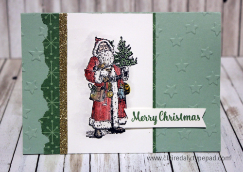 Stampin Up Holiday Catalogue 2016 sneak peek, Father Christmas stamp set, Christmas Card by Claire Daly Stampin' Up! Demonstrator Melbourne Australia
