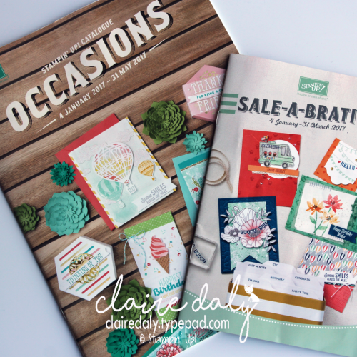 Stampin Up 2017 Occasions and Saleabration Catalogue. In Australia? Register to receive your free copies in December or join from December 1st to choose new items in your starter kit. Claire Daly, Stampin Up Demonstrator Melbourne Australia