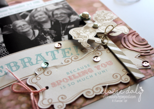 Stampin' Up! Scrapbooking Layout using Falling in Love DSP from Upcoming Occasions 2017 Catalogue. Page by Claire Daly Stampin' Up! Demonstrator Melbourne Australia.