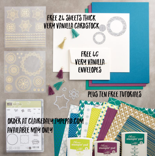 Stampin Up 2017 Annual Catalogue Eastern Palace bundle  (bundles with free items and tutorials available May only). Claire Daly Stampin' Up! Demonstrator Melbourne Australia.
