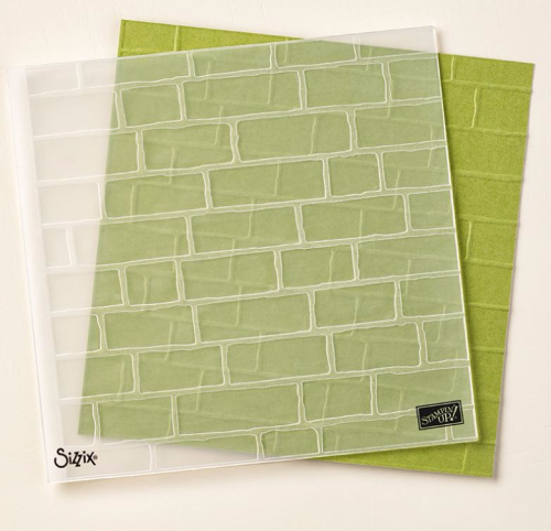 Brick Wall Embossing Folder. Available to purchase in Australia in my online Stampin' Up! Store at www.clairedaly.typepad.com Gifts with online purchase that use my monthly hostess code.