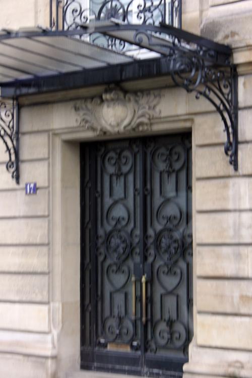 Paris ornate door