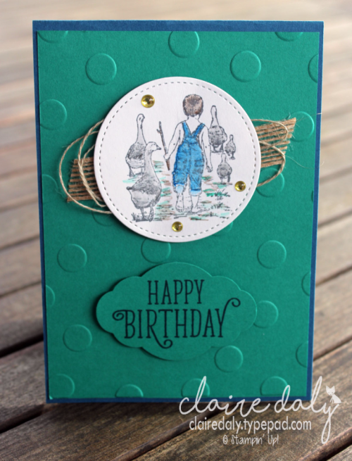 Stampin Up Heartland male birthday card by Claire Daly, Stampin' Up! Demonstrator Melbourne Australia.