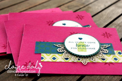 Stampin Up Hearts Come Home and Eastern Elegance for Art with Heart  team Heart of Christmas. Claire Daly.