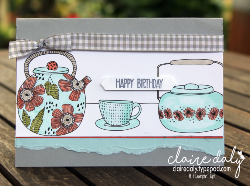 Stampin Up Just Add Color DSP coloured with Stampin Blends alcohol markers, Card by Claire Daly Stampin Up Demonstrator Melbourne Australia