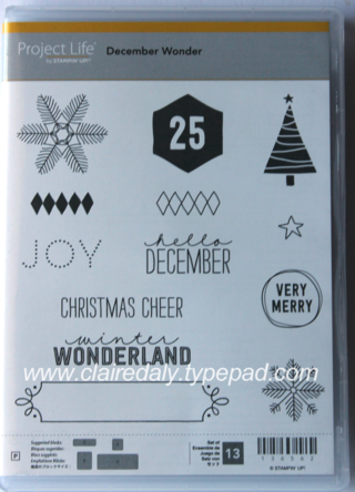 Stampin' Up! Project Life Christmas range 2014 Hello December stamp set available from Claire Daly Melbourne Australia at www.clairedaly.typepad.com
