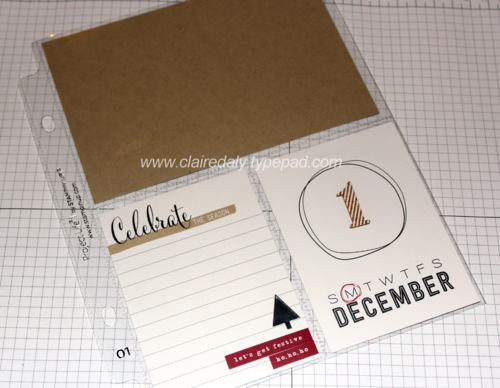 Stampin' Up! Hello December Project Life for doing a daily album in December