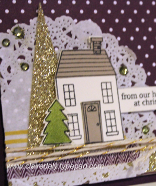 Stampin Up Holiday Home Christmas Card by Claire Daly Stampin Up Melbourne Australia, for Stamping and Blogging