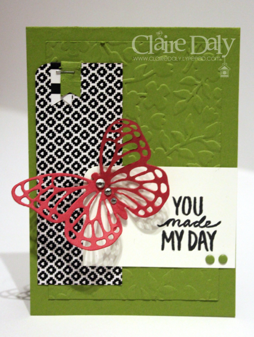 Stampin Up Butterfly Basics Framelits Best Day Ever stamp set by Claire Daly Stampin Up Demonstrator Melbourne Australia SB92