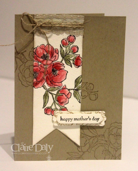 Stampin Up Indescribable Gift for SB104 using spotlighting technique. By Claire Daly Melbourne Australia.