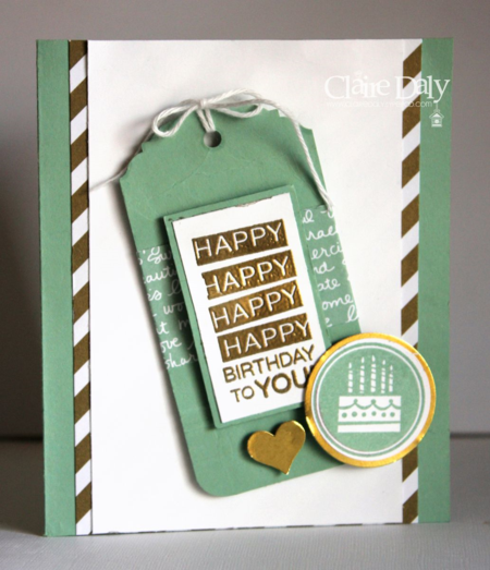 Stampin up amazing birthday handmade birthday card by Claire Daly Melbourne Australia