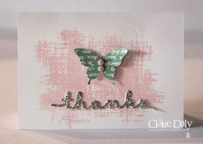 quick and simple butterfly thanks card by Claire Daly #stampinup #stampinupsouthpacific #stampinupaustralia #butterfly #quickthankyoucards