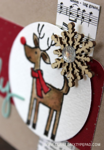 Cosy Christmas Reindeer close up