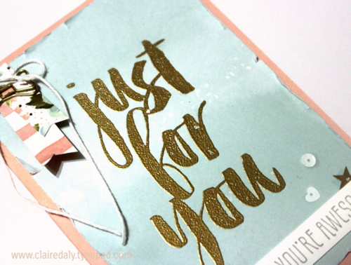 Stampin Up Saleabration 2016 Just for You card using Botanicals For You stamp set (free with $90 order during Saleabration). Claire Daly, Stampin; Up! Demonstrator Melbourne Australia