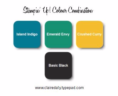 Stampin Up colour combinations - click through to see the card