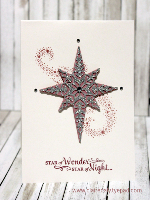 Stampin Up Holiday Catalogue 2016 sneak peek, Star of Light stamp set, Starlight bundle, Christmas Card by Claire Daly Stampin' Up! Demonstrator Melbourne Australia