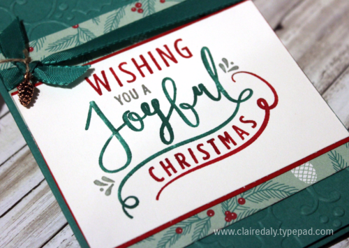 Stampin Up Holiday Catalogue 2016 sneak peek, Wonderful Year stamp set, Christmas Card by Claire Daly Stampin' Up! Demonstrator Melbourne Australia