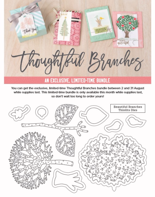 Stampin Up Thoughtful Branches available in my online store until 31st August 2016.