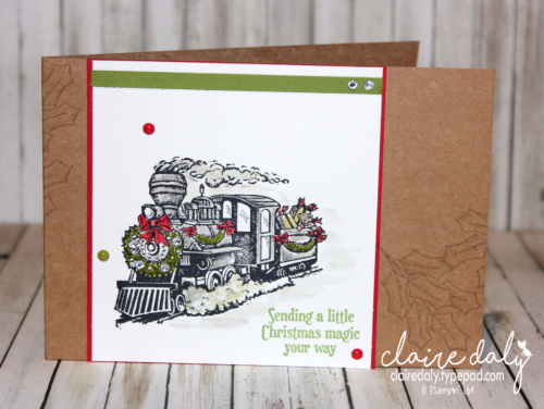 Stampin Up Christmas Magic card from 2016 Holiday Catalogue. By Claire Daly Stampin Up Demonstrator Melbourne Australia
