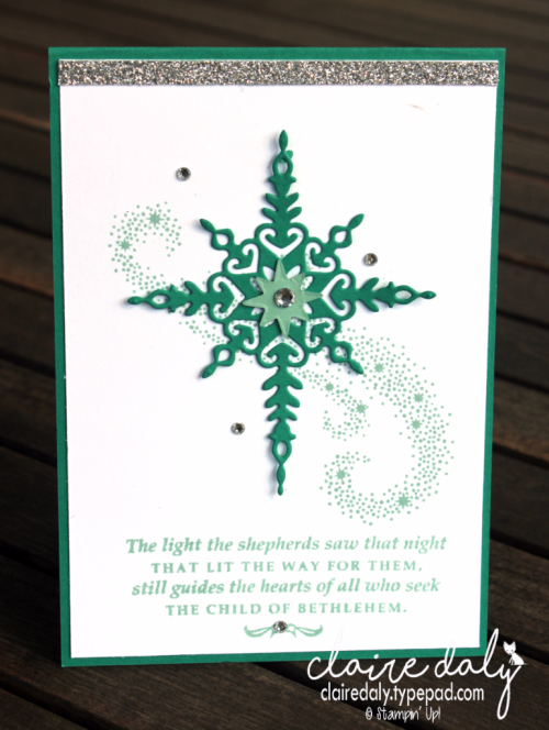 Stampin Up Star of Light Christmas Card from the 2016 Holiday Catalogue. Card by Claire Daly Stampin' Up! Demonstrator Melbourne Australia.