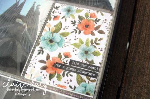 Barcelona Travel album featuring Hello Lovely Project Life by Stampin Up. By Claire Daly Stampin' Up! Demonstrator Melbourne Australia