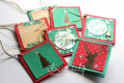 Stampin Up Project Life Hello December gift cards by Claire Daly Stampin Up Demonstrator Melbourne Australia for Art with Heart Team Bog Hop
