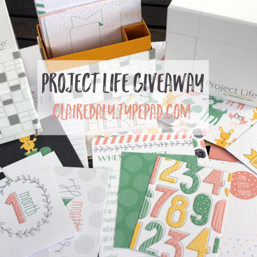 GIVEAWAY - Enter to win one of 3 Project Life Hello Baby Card Collections from Stampin' Up!. Closes 11.59 AEST Sunday 4th Dec 2016. Click through for details and entry form (no purchase necessary, Australian residents (no current SU Demonstrators please).