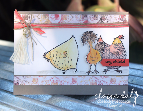 Stampin' Up! Hey Chick Stamp Set for Saleabration 2017. Card by Claire Daly, Stampin Up Demonstrator Melbourne Australia