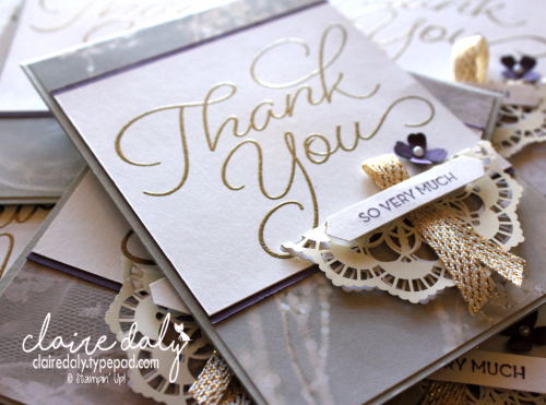 Stampin Up So Very Much Thank you card for Saleabration 2017. Claire Daly, Stampin' Up! Demonstrator Melbourne Australia
