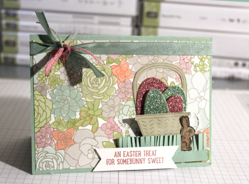Stampin Up Easter Card 2017. Basket Bunch stamp set.