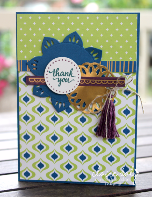 Stampin Up 2017 Annual Catalogue Eastern Palace bundle card (bundles with free items and tutorials available May only). Card by Claire Daly Stampin' Up! Demonstrator Melbourne Australia.