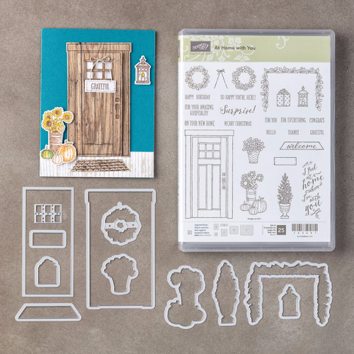 At Home with you bundle. Available to purchase in Australia in my online Stampin' Up! Store at www.clairedaly.typepad.com Gifts with online purchase that use my monthly hostess code.