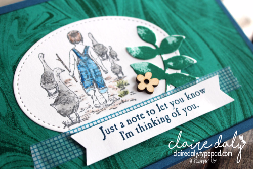 Stampin Up Heartland Thinking of You card. Claire Daly, Stampin' Up! Demonstrator Melbourne Australia.
