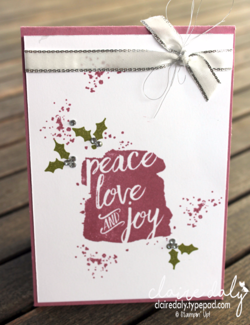 Stampin Up 2017 Holiday Catalogue sneak peek: Every Good Wish. Cards by Claire Daly, Stampin' Up! Demonstrator Melbourne Australia
