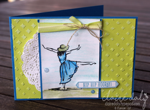 Stampin Up Beautiful You stamp set, lemon Lime Twist and embossing paste. Card by Claire Daly, Stampin Up Demonstrator Melbourne Australia