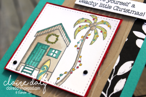 Stampin Up Beachy Little Chrstmas stamp set from 2017 Holiday Catalogue. Claire Daly Melbourne Australia.