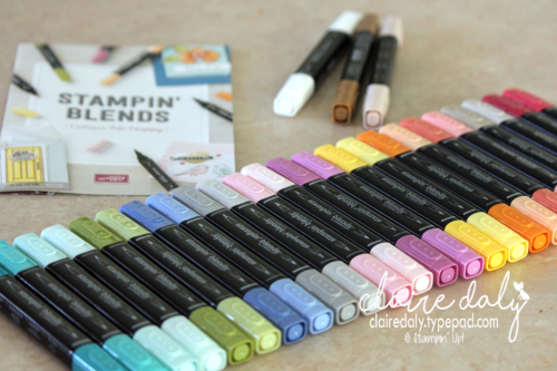 Stampin' Blends alcohol markers in Stampin' Up! colours. Available November 1st 2017.
