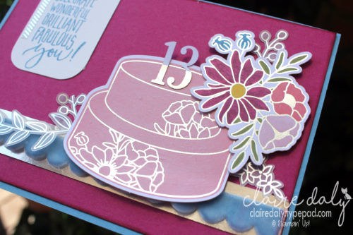 Stampin Up Sweet Soiree suite card by Claire Daly Stampin Up Demonstrator Melbourn Australia. #stampinup #occasions2018 #stampinupcards2018 #clairedaly