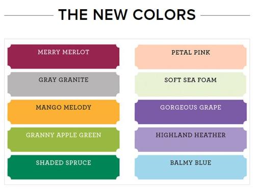 New core colours