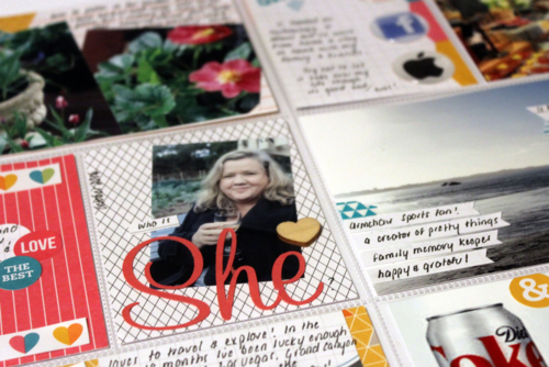 Project Life All About me page using Stampin Up Everyday Adventure by Claire daly Stampin Up Melbourne Australia