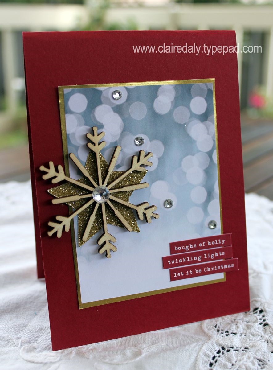 Card Making Ideas Australia Part - 47: Stampinu0027 Up! Bokeh Christmas Card Using Hello December Project Life  Products By Claire Daly