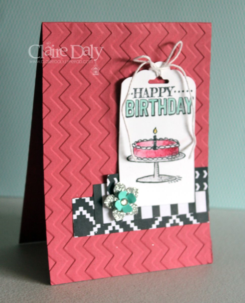 Stampin Up Big Day Birthday Card by Claire Daly Stampin' Up! Demonstrator melbourne Australia.